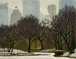 woodblock print, Solemn Snow
