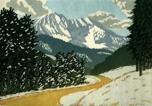 Woodblock print, The Way of the Mountain