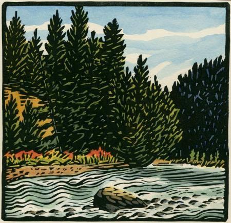 Way of Summer - woodblock print
